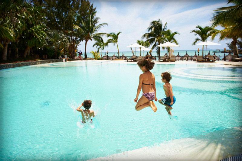Počitnice Mauritius, hotel Lux Grand Gaube, bazen
