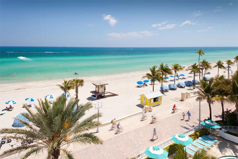 ZDA potovanje, od New Yorka do Miamija,  Florida, plaža