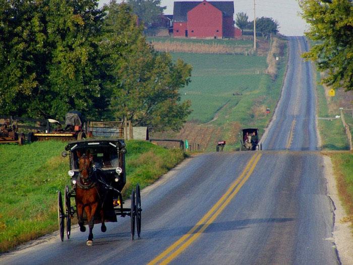 ZDA potovanje, Vzhodna obala in Kanada, Amish Country
