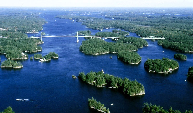 ZDA potovanje, Vzhodna obala in Kanada, Thousand Islands