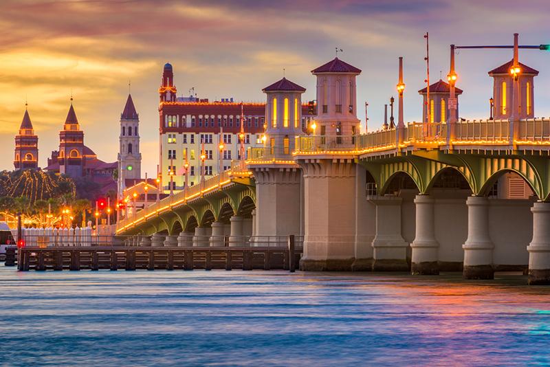 Amerika potovanje, Plaže Floride, St Augustine