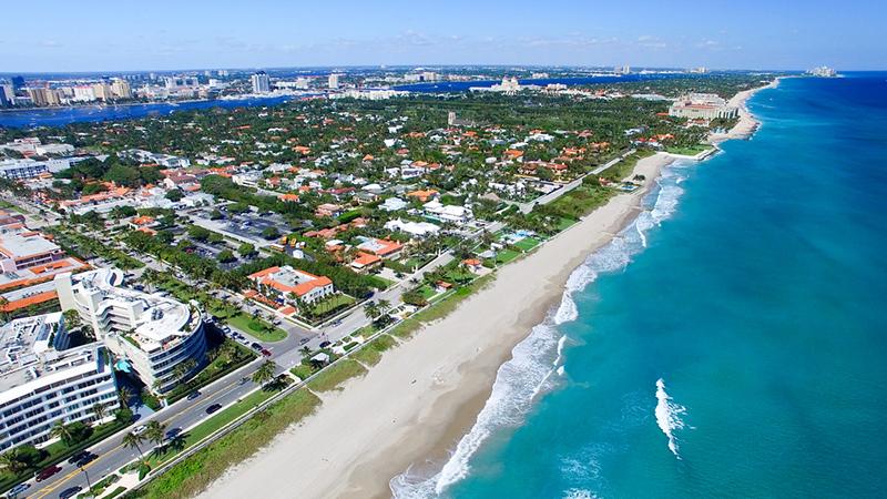 Amerika potovanje, Plaže Floride, Palm Beach