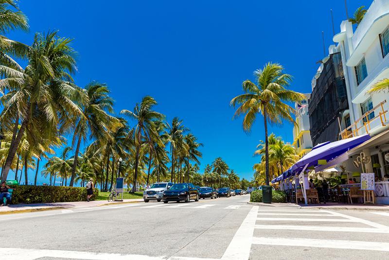Amerika potovanje, Plaže Floride, Miami