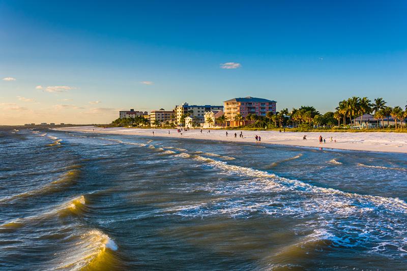 Amerika potovanje, Plaže Floride, Ft Myers