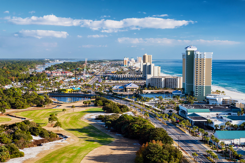 Amerika potovanje, Plaže Floride, Panama City Florida