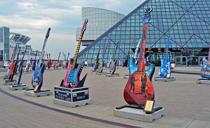 ZDA, Velika jezera, Cleveland, Muzej Rock and Roll