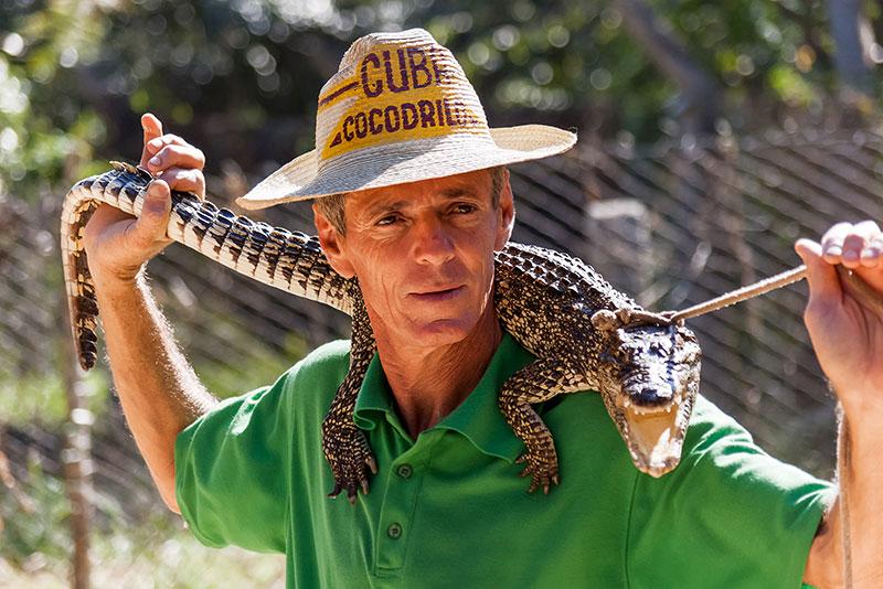 Potovanje po Kubi, farma krokodilov