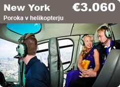 poroka New York, helikopter